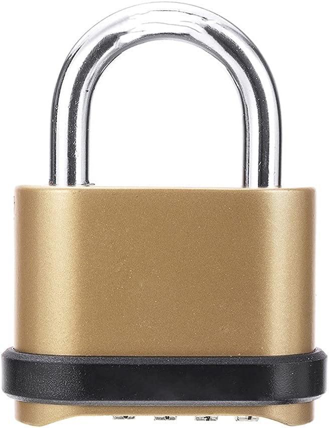 WNAVX Key Padlock New arrival Weatherproof Fees free!! Security P Code Four-Digit Number
