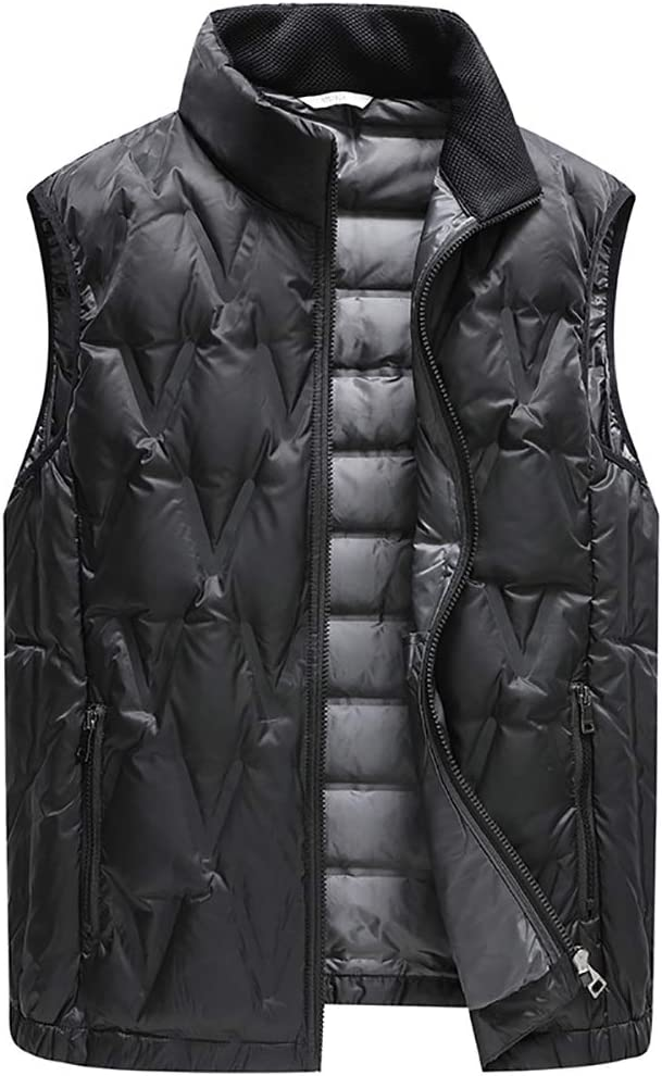 MIAOLEIE Down Jacket Winter Vest Wear A Light Vest, Easy to Match with A Variety of Interiors, Suitable for Work, Outdoor Travel,2XL/185cm