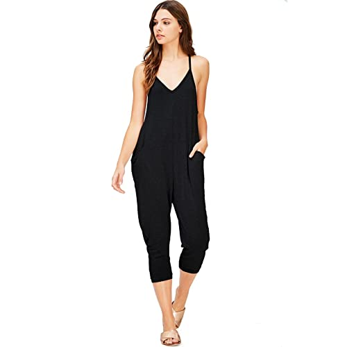 Wasabi   Mint Women s Terry Cloth Cropped Leg Jumpsuit 39a2b6055