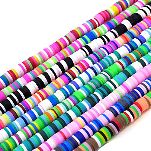 Clay Bread Heishi Bread Round Loose Handmade Polymer Fimo Spacer Bead 10 Mix Color 6MM 3200PCS