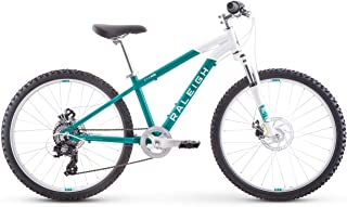 RALEIGH Bikes Eva 24 Kids Hardtail Mountain Bike for Girls Youth 8-12 Years Old, Teal