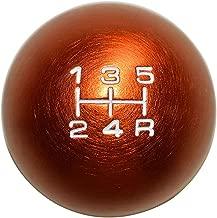 10x1.25mm Thread 5 speed ROUND Ball Shift Knob in ORANGE Billet Aluminum for Nissan Nismo JDM