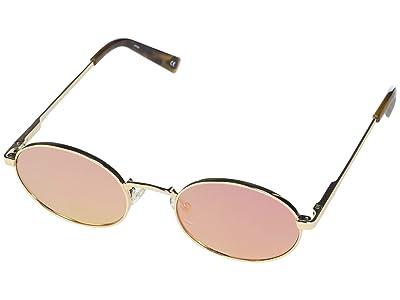 Le Specs Poseidon (Bright Gold/Rose Mirror) Fashion Sunglasses