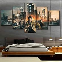 Maze Runner The Death Cure Pinturas de películas sobre lienzo Arte de la pared para la decoración del hogar Arte de la pared Pintura de la lona Hd Impreso 5 piezas Cartel(size 3)