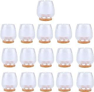 Protectores de suelo NUOLUX, 16 unidades, de silicona, para las patas de los muebles, para patas redondas de 25a&nbs...