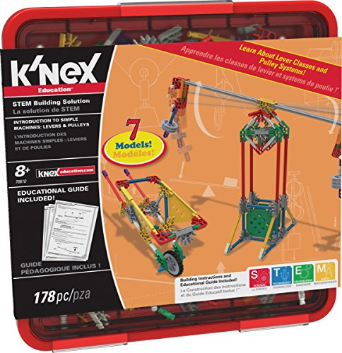 K'NEX Education - Intro to Simple Machines: Levers and Pulleys Set  178 Pieces  For Grades 3-5  Construction Education Toy