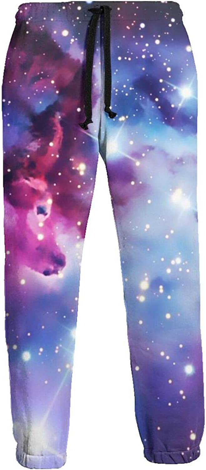 Ybrktl15- Mens Shiny Direct store Sale special price Galaxy Athletic Sweatpants Waist Elastic