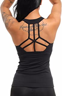 COLO Women Yoga Tank Top Workout Tops Open Back Racerback Built in Bra Removable Pad …