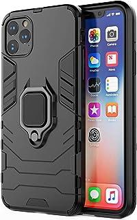 iPhone 12 Pro Max ケース 6.7インチ 車載ホルダー 耐衝撃 リング付き 着脱簡単 カバー ソフトバンパー 米軍規格取得 スタンド機能 全面保護カバー 擦り傷防止 薄型 軽量 滑り止め (iPhone 12 Pro Max)
