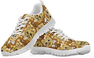 Women's Running Sneakers Cute Yorkshire Terrier Pattern Soft Breathable Walking Shoes