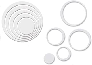 Dormery Wall Stickers 5 Colors 5PCS Indoors Decoration Circles Creative Stereo Removable 3D DIY Wall Sticker Geometric Wallpaper D8 White Medium