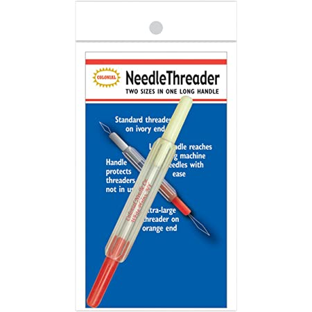 Colonial Needle Colonial 2-in-1 Needle Threader, Multi-Colour, 1.01 x 7.11 x 14.47 cm
