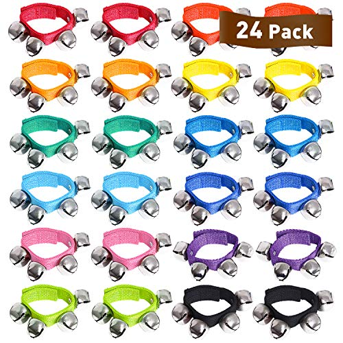 2X Baby Kids Wrist Foot Bells Rattles Ring Adjustable Bracelet Sensory Toys Gift