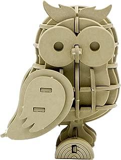 JIGZLE Owl 3D Paper Puzzle DIY Kit - Laser Cut Miniature (1