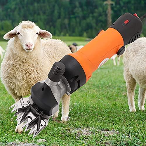 YQJY 690W Un Set Completo para Esquiladora Eléctrica Cizalla para Cabra Electrónica para Cabra Alpaca Camello 6 Ajuste de Velocidad(Hoja de 13 Dientes Rectos)