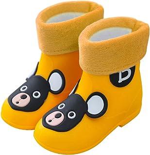 C'wait Kids Anti-Slip Waterproof Rubber Rain Boots Shoes Cute