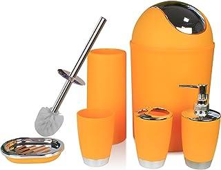 Astounding Amazon Com Orange Bathroom Accessory Sets Bathroom Home Interior And Landscaping Ponolsignezvosmurscom