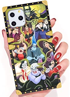 DISNEY COLLECTION iPhone 11 Pro Max Disney Rebel Character Square Phone Case Cover Soft TPU 360 Degree Luxury Shockproof Protective Case Compatible for iPhone 11 Pro Max 6.5 Inch