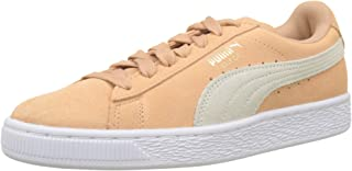 PUMA Womens Whisper Orange Suede Classic Trainers