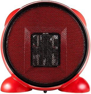 ANKIKI PTC Cerámica 500W Mini Calefactor,Ahorro Energía Portátil Multifunción Ventilador Calefactor,Protección Sobrecalentamiento Y Antivuelco,Sala Estar Dormitorio Oficina Mesa Uso,Rojo