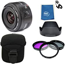 Yongnuo EF 35mm F2 C Wide Angle Fixed Prime Auto Focus Lens Canon YN35mm PRO KIT With Filters , case , hood