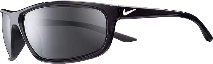 Nike Eyewear Men's Nike Rabid EV1109-061 Rectangular Sunglasses, ANTHRACITE/WHITE, 64 mm