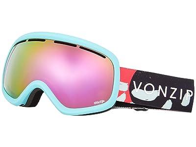 VonZipper Skylab Goggle (Mint Satin/Wild Pink Chrome Lens) Snow Goggles