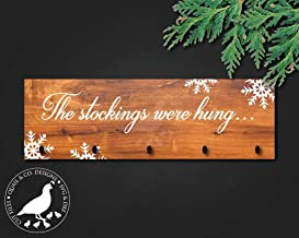 and the stockings were hung wood sign