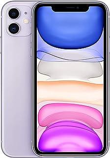ابل ايفون 11 مع فيس تايم بشريحتي اتصال - 128 جيجا، 4 جيجا رام، الجيل الرابع ال تي اي، ارجواني