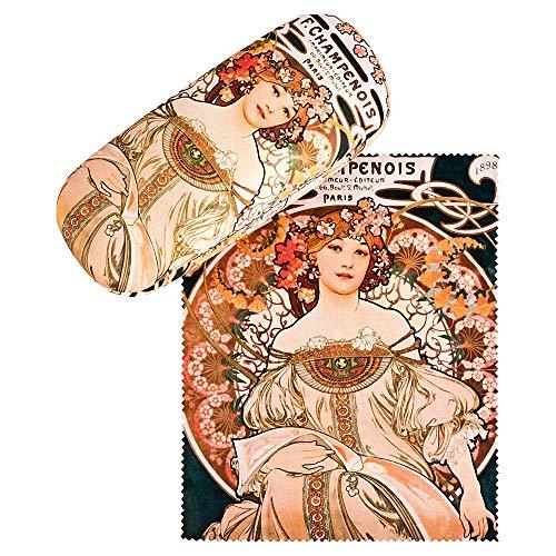von Lilienfeld Estuche Gafas Funda Ligeramente Estable Colorido Mujer Hombre Motivo Arte Alfons Maria Mucha F. Champenois