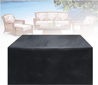 ASPZQ Cubierta de Muebles Jardín Al Aire Libre A Prueba Polvo para Silla Cubo de Mesa Ratán Fundas Sofá Lluvia Impermeable Protector Patio Jardín (Color : Negro, Size : 100X100X140cm)