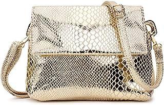 MIMITU Kleine Damen Umhängetasche Schwarze Umhängetaschen für Damen Geldbörsen und Handtaschen Mini Damen Hand Umhängetasche