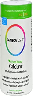 Rainbow Light - Food-Based Calcium - Calcium, Magnesium, and Vitamin D Multivitamin Supplement; Supports Bone Density, Muscle Relaxation, and Calcium Absorption; 500 IU Vitamin D3 - 180 Tablets