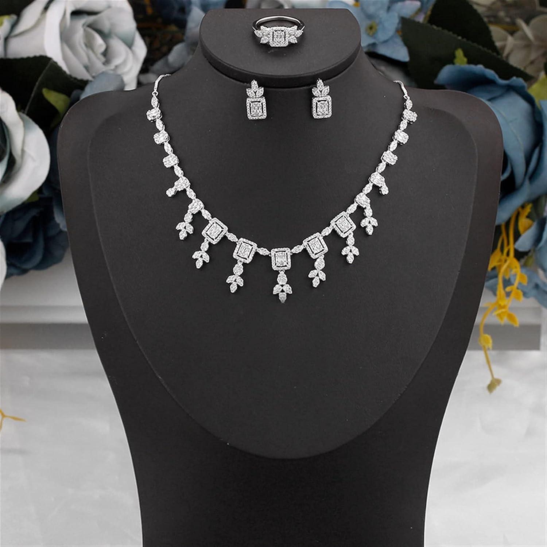 SYXMSM Jewellery Set 3 PCS Wedding Women Max 79% OFF Gift Exqu Dedication