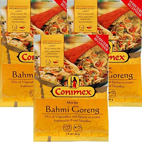 Conimex Bahmi Goreng Mix 3 Pack Indonesian Fried Noodles Seasoning Mix Dutch Holland Import product image