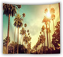 Tapestry Wall Hangings,Roadside Plant Coconut Tree Printed Bohemian Tapestries,Large Size Beach Towel Tablecloth Picnic Mat,For Home Child Room Wall Decor,150×130Cm