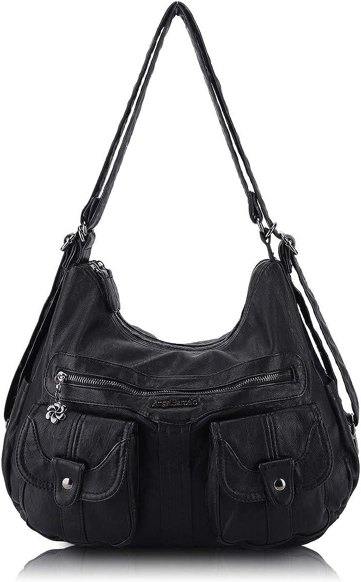 Manufacturer regenerated product Angel Barcelo Women Multifunctional Soft Purses Handbag Reservation Leather
