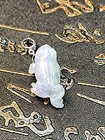 福袋 ネックレス かわいい 蛙 ミャンマー産 本翡翠 ヒスイ A貨 無着色 誕生日プレゼント ラベンダーと緑色 天然石 手作り 男女兼用 本物保証