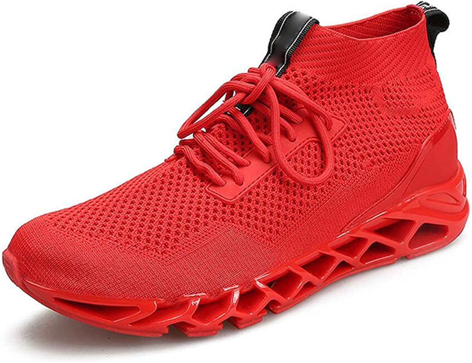 Outdoor Sneakers for Mens Men's Running shoes Outdoor Sports and Leisure High Top and Lightweight Wear Resistant Soles (color   Red, Size   40)