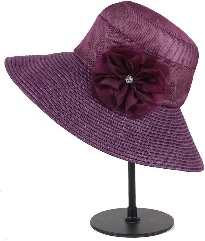 PINGF HOME 女性の帽子は太陽から保護するために夏に太陽のボンネットを折る