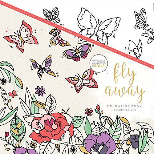 Kaisercraft Malbuch Fly Away, Paper, Multicolour, 25 x 25 x 0.6 cm