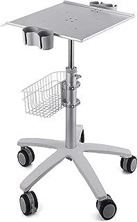 VEVOR Mobile Trolley Cart for Portable Ultrasound Imaging Scanner System Mobile Rolling Cart 16.5X15.7 Large Tabletop to Hold Rolling Desktop Mobile Cart Height Adjustable 29.5-41.3