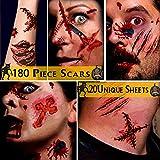 Alintor Halloween Schminke Set - Halloween Narben Tattoo, Halloween Kostüm Damen Tattoo,...