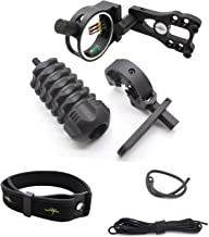 Archery Essential Accessory Upgrade Combo 5-pin Bow Sight, Arrow Rest, Stabilizer, Braided Bow Sling, Peep Sight