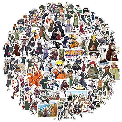 Babioms 100 Confezioni Cartoon Naruto Adesivi Impermeabili per Bottiglie d'Acqua, Valigie, Laptop, Telefoni, Biciclette, Motociclette, Auto