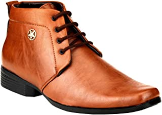 Zebra Men's Synthetic Leather Formal Ankle Boot