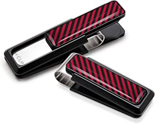 Money Clip from M-Clip Crimson & Black Inlay by Billionaires Pocket