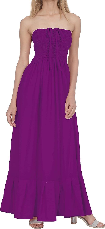 LA Cheap super special price LEELA Sale Special Price Women's Plus Size Summer Tube Dress Beach Casual Cover