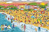 Webby Wooden 1000 Piece Jigsaw Puzzle - Beach Illustration - 1000 Pieces Puzzles for Adults and Family, 19' x 28.5'