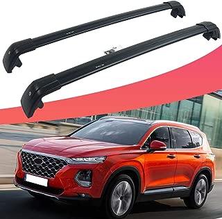 SnailAuto Fit for Hyundai Santa Fe 2019 2020 Lockable Cross Bars Roof Rack Rail US Stock -2pcs
